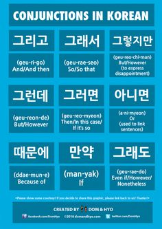 Conjunctions in Korean