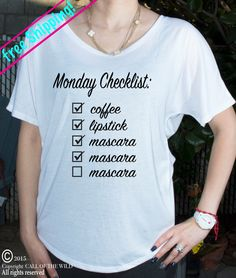 A personal favorite from my Etsy shop https://www.etsy.com/listing/252102269/monday-checklist-coffee-lipstick-mascara