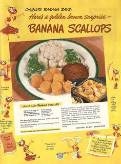 'Banana Scallops' - Umm, weird combination going on here. RP by http://www.splashtablet.com the hyper-cool tablet case - sticks anywhere in kitchen or bath - on Amazon.com