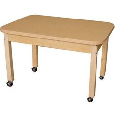 "Wood Designs Rectangular Activity Table Leg Type: 16"", Table Size: 44"" L x 30"" W"
