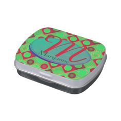 Retro Xmas Circles and Squares Jelly Belly Candy Tins - retro kitchen gifts vintage custom diy cyo personalize Jelly Belly, Cycling For Beginners, Christmas Diy, Xmas, Retro Gifts, Kitchen Gifts, Diy Halloween Decorations, Halloween Make Up, Home Gifts