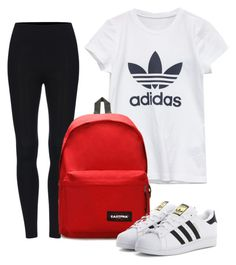 """""""Danielle Winters"""" by jaylynnebabe on Polyvore featuring adidas, Eastpak and adidas Originals"""