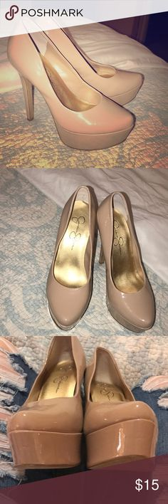 Patent Leather Nude Jessica Simpson Heels Sz 7 Patent Leather Nude Jessica Simpson Heels Sz 7  Worn once on my birthday! Great condition! Jessica Simpson Shoes Heels