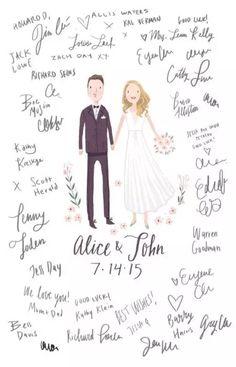 Ideas para las firmas de los invitados en la boda