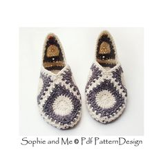 Ravelry: Granny Square Elf Slippers pattern by Sophie and Me-Ingunn Santini All Granny, Joining Granny Squares, Elf Slippers, Slipper Socks, Thread Crochet, Knit Crochet, Granny Square Slippers, Crochet Slippers, Crochet Patterns