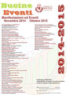 Manifestazioni ed eventi 2015 nel Comune di Bucine