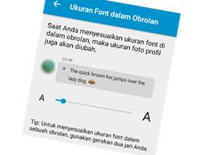cara ganti/rubah ukuran font bbm for android terbaru
