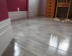 gray painted plywood plank floors from Centsational Girl Blog - Feb 2014