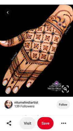 Kashee's Mehndi Designs, Round Mehndi Design, Finger Henna Designs, Full Hand Mehndi Designs, Mehndi Designs For Beginners, Mehndi Design Photos, Wedding Mehndi Designs, Mehndi Designs For Fingers, Latest Mehndi Designs