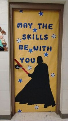 Change it to.may the standards be with you Space Theme Classroom, Star Wars Classroom, Disney Classroom, Classroom Board, School Classroom, Classroom Decor, Classroom Design, Bulletin Boards, Movie Classroom