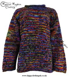 Gringo Black Multicoloured Nepalese Wool Jumper