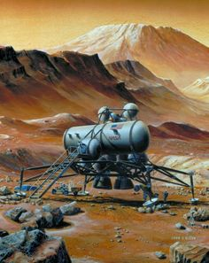 Best stuff about Mars exploration and human colonization of Mars in science and popular culture - fiction, art, movies, games. Hard Science Fiction, Apollo Missions, Arte Cyberpunk, Air And Space Museum, Alien Art, Space Exploration, Retro Futurism, Sci Fi Fantasy, Sci Fi Art