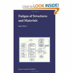 Fatigue of Structures and Materials: Jaap Schijve Aeronautic engineer book for stress of materials and aircraft math.