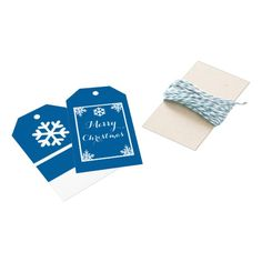 Crystal Snowflake Christmas Gift Tags