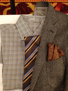 Browns and earth tones work, especially when mixing depth of color with texture and style.