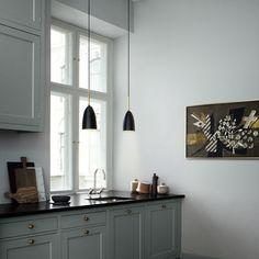 Shop For Gubi Grashoppa Pendant Blue Grey Online, Australia. Select From Our Huge, Scandinavian, Modern, Gubi Range. Kitchen Interior, Kitchen Design, Country Look, Muuto, Bureau Design, Suspension Design, Lamp Design, Modern Lighting, Floor Lamp