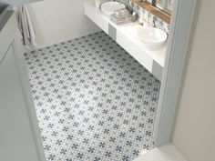 Bathroom floor patterns with Fiorella tile collection from APE Ceramica. Hall Flooring, Bathroom Flooring, Floor Patterns, Tile Patterns, Wall And Floor Tiles, Wall Tiles, Wet Rooms, Decorative Tile, Tile Design