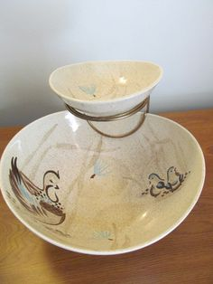 Bob White by Red Wing Pottery serving chip and by FredsDiscoveries, $40.00