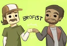 Lee and Kenny :D Walking Dead video game. BROFIST!