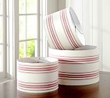 Ticking Stripe Drum Lamp Shade, Small, Red