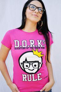 JCLUF- Cute Girl Christian Shirts D.O.R.K.s RULE