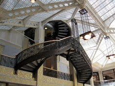 The Rookery Central court with skylight, Chicago #Architecture #wright