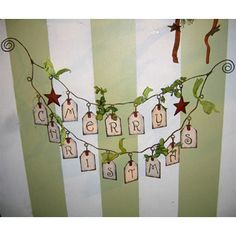 Merry Christmas Gift Tag Garland