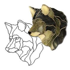 Free Wildlife Stained Glass Patterns | Alpha Wolf Obsession Pattern - Animals…
