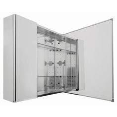 Pegasus 30 in. x 26 in. Recessed or Surface Mount Medicine Cabinet with Bi-View Beveled Mirror Door-SP4584 - The Home Depot $186