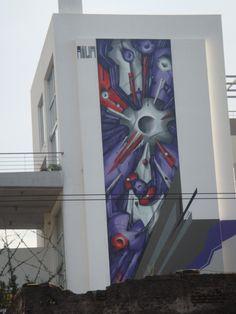 Athens street art.- Mural by Aiwa.