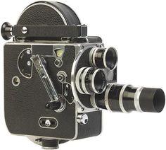Antique movie camera.