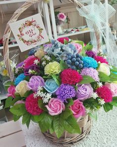 soapflower basket