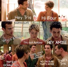 The Spectacular Now(Aimee)The Fault In Our Stars(Hazel Grace) Divergent(Tris) Divergent Jokes, Divergent Hunger Games, Divergent Fandom, Divergent Trilogy, Divergent Insurgent Allegiant, Insurgent Quotes, Tfios, Peter From Divergent, Tris And Four