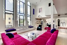 Chair upholstery: Westbourne Grove Church Conversion by DOS Architects