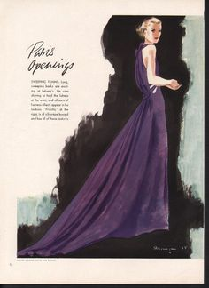 Lucien Lelong Evening Dress in 1935 | very similar to McCall 8363 pattern