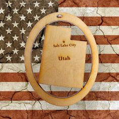 Beautifully Handcrafted Utah Christmas Ornament! Personalized Free!
