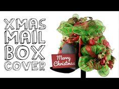 Deco mesh mailbox cover video