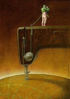 Il dénonce les réalités de notre monde à travers des illustrations satiriques poignantes