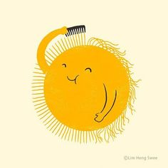 No worries, sunshine will be ready in a minute. _______________________ Illustration by @limhengswee http://www.ilovedoodle.com #goodday #sunday