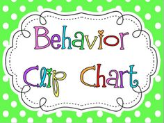Freebie: Cuuuute behavior chart. :)   Kiddos clip up/clip down.