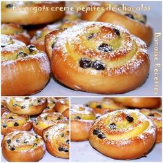 escargots creme patissiere pepites de chocolat3 Desserts With Biscuits, No Cook Desserts, Bread And Pastries, Keto Brownies, Beignets, Cooking Chef, Cooking Recipes, Donut Recipes, Yummy Cookies
