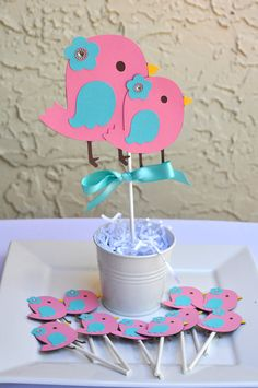 Bird theme, nesting baby shower, birthday centerpiece by on Etsy Owl First Birthday, Birthday Cale, Birthday Party Themes, Birthday Centerpieces, Bird Theme, Baby Sprinkle, Dinosaur Party, Baby Shower Cakes, First Birthdays