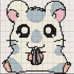 Hamtaro perler bead pattern