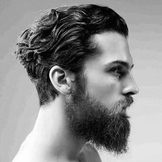 medium hairstyle for curly men