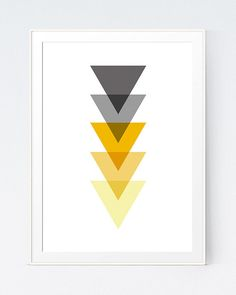 Shadows of Grey and Yellow Abstract Print, Mustard and Gray Minimalist Art, Gold and Grey Wall Art, Home Wall Art. Yellow Wall Art, Grey Wall Art, Grey Bedroom With Pop Of Color, Grey And Yellow Living Room, Bedroom Yellow, Yellow Room Decor, Grey Bedrooms, Grey Yellow, Mustard Bedroom