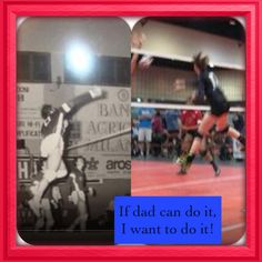 Runs in the family. @USA Volleyball