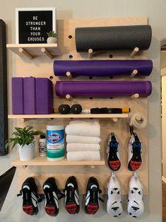Home Gym Garage, Diy Home Gym, Gym Room At Home, Home Gym Decor, Basement Gym, Basement Remodeling, Home Made Gym, Workout Room Home, Workout Rooms