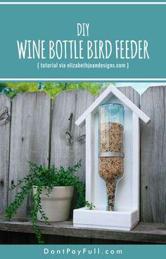 DIY Wine Bottle Bird Feeder #DontPayFull