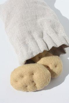 DIY Felt food : potatoes Tuto aliments en feutrine : pomme de terre http://dansatelier.canalblog.com/
