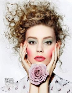 Ondria Hardin by Richard Burbridge for Vogue Japan March 2015